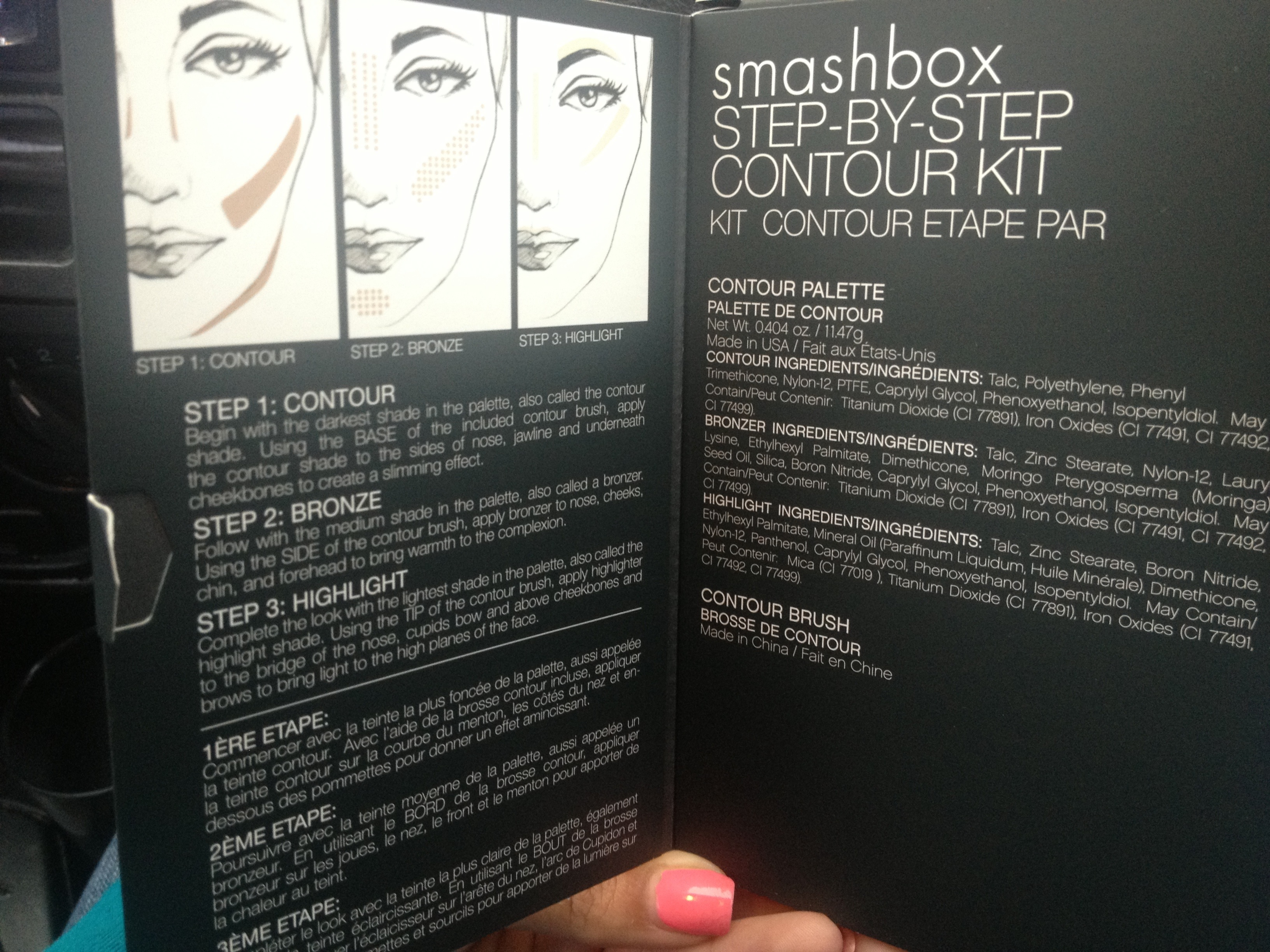 smashbox contour kit instructions