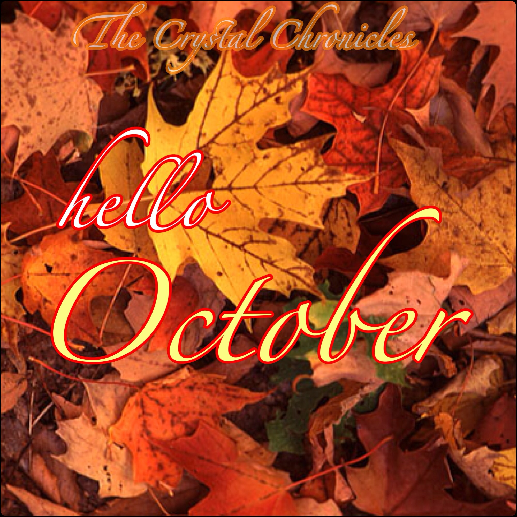 Delightful Hello October Background Saying Hd